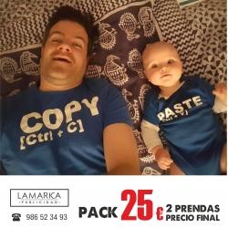 Pack Camiseta Pizza